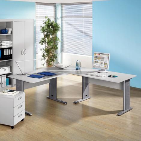 Büromöbel-Set Advantage, C-Fuß Gestell, 7-teilig