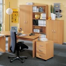 Büromöbel-Set Advantage, Wangen Gestell, 7-teilig