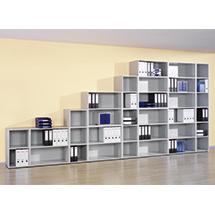 Büroregal mit bis zu 5 Böden. Breite bis 800 mm, Höhe bis 2160 mm