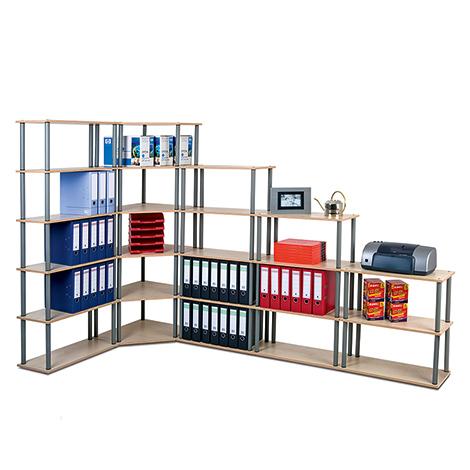 Büroregal Office. 2 bis 6 Böden, Breite 700 mm, Höhe bis 1800 mm