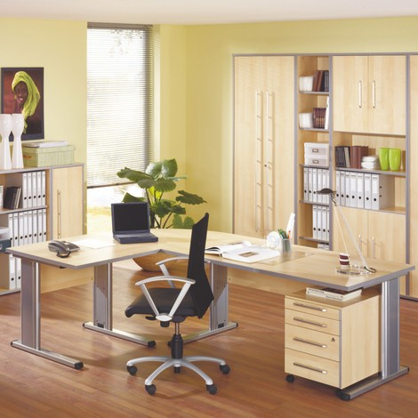 Büroschrank Elegant, 6 Ordnerhöhen
