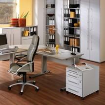 Büroschrank Elegant mit kurzen Türen, 6 Ordnerhöhen