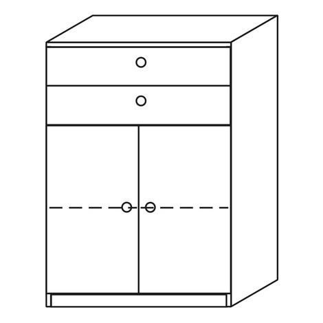 Büroschrank JOBexpress mit 2 Schubladen