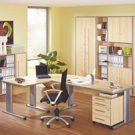 Büroserie ELEGANT in Ahorn-Dekor, Einzelkomponenten