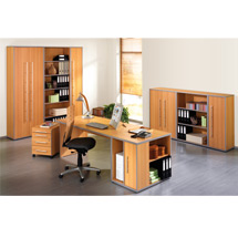 Büroserie ELEGANT in Buche-Dekor, Einzelkomponenten