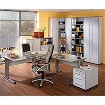 Büroserie ELEGANT in office-Dekor, Einzelkomponenten