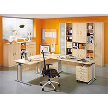 Büroserie EXCLUSIV in Ahorn-Dekor, Einzelkomponenten