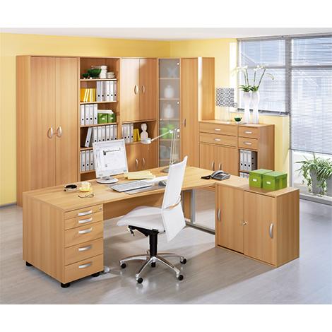 Büroserie EXCLUSIV in Buche-Dekor, Einzelkomponenten