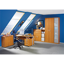 Büroserie EXCLUSIV in Kirsche-Dekor, Einzelkomponenten