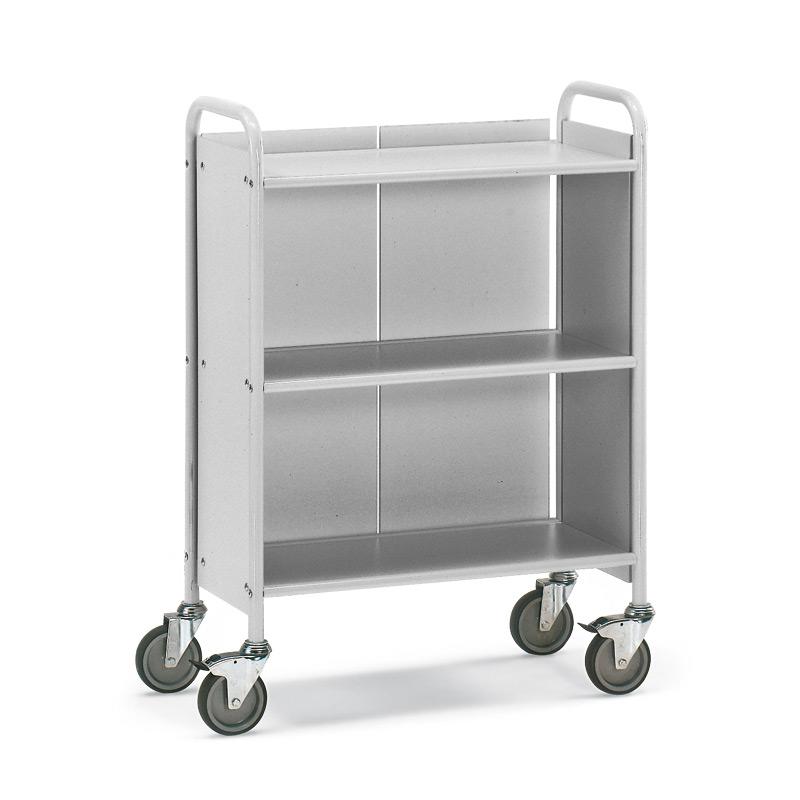 Bürowagen und Aktenwagen fetra®. 2 Fächer mit Rückwand