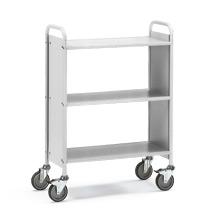 Bürowagen und Aktenwagen fetra®. 2 Fächer ohne Rückwand