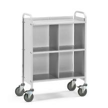 Bürowagen und Aktenwagen fetra®. 4 Fächer mit Rückwand