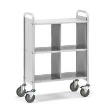 Bürowagen und Aktenwagen fetra®. 4 Fächer ohne Rückwand