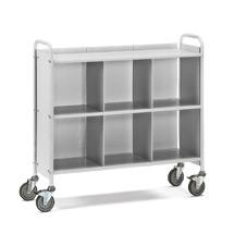 Bürowagen und Aktenwagen fetra®. 6 Fächer mit Rückwand