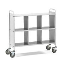 Bürowagen und Aktenwagen fetra®. 6 Fächer ohne Rückwand