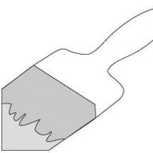Buitenwandlakafwerking voor rolluikbox uit trapeziumplaat, 2-componentenlak