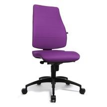 Bureaustoel met ergonomische zitting en leuning, draaibaar