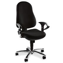 Bureaustoel met stalen voetkruis, ergonomisch gevormd