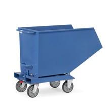 C-Ware fetra® Muldenkipper mit Rollen, Volumen 0,8 m³, Blau