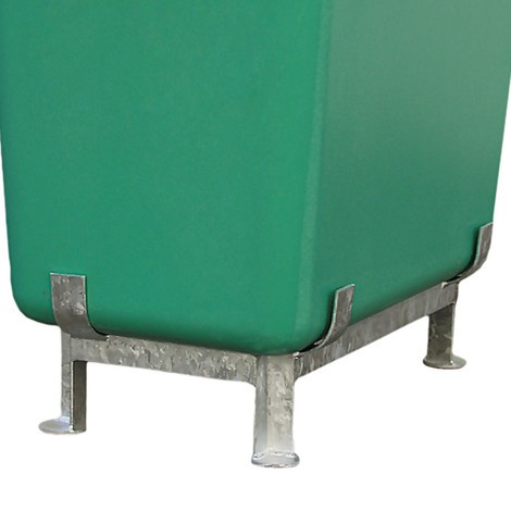 Cadres sur pieds pour conteneurs rectangulaires CEMO en plastique renforcé de fibres de verre