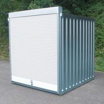 Caisse de volets roulants avec porte à rouleaux en aluminium