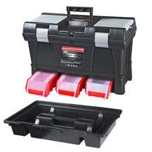 Caixa de ferramentas de material inclusive 3 caixas de empilhamento