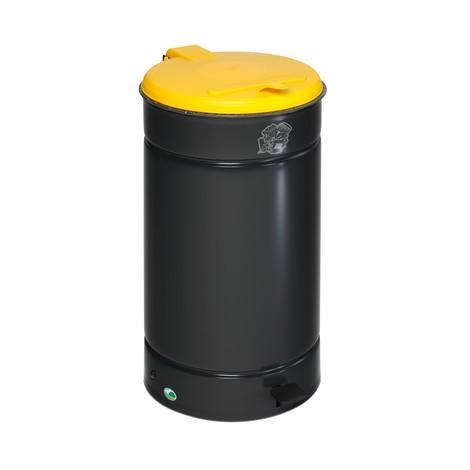 Caixote de lixo com pedal Euro-Pedal, 60 litros