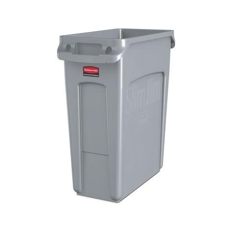 caixote de reciclagem Rubbermaid Slim Jim® com dutos de ventilação