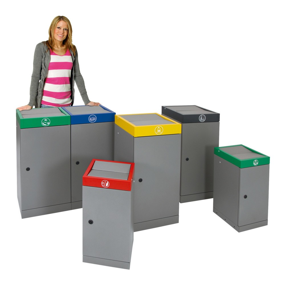 Caixote de reciclagem stumpf®, porta dupla