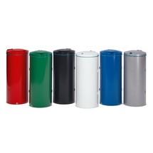 Caixote de reciclagem VAR®, 120 litros, porta oscilante dupla, em aço galvanizado e revestido de pó