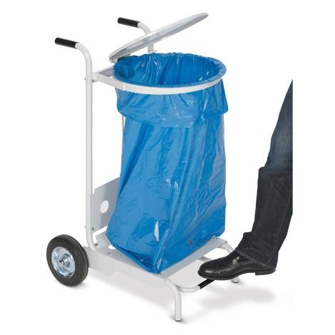 Caixote do lixo com pedal, em aço, 120 litros