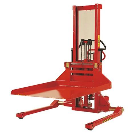 Carapilador con plataforma eléctrica de ancho calibre, capacidad de carga 1.000 kg