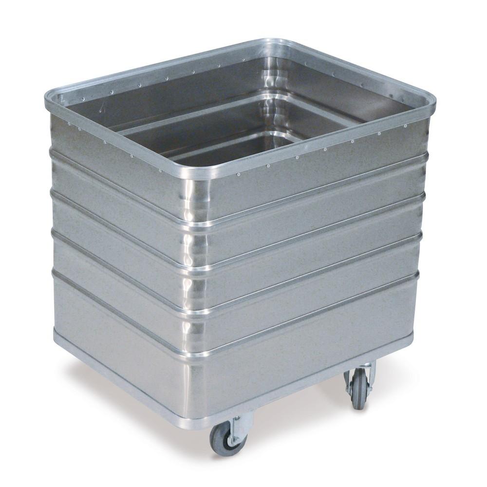 Carrello contenitore in alluminio con pareti chiuse