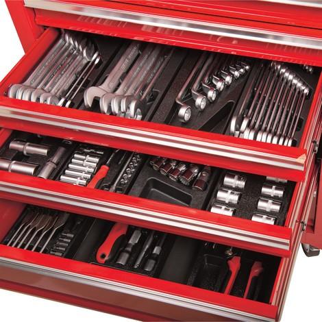 Carrello da officina movimentabile BASIC, 4 piccoli cassetti e 1 vano di deposit