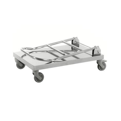 Carrello di trasporto, completamente in acciaio inox 18/0