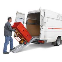 Carril de carga BASIC de aluminio, 2 por set. Capacidad de hasta 400 kg/el par