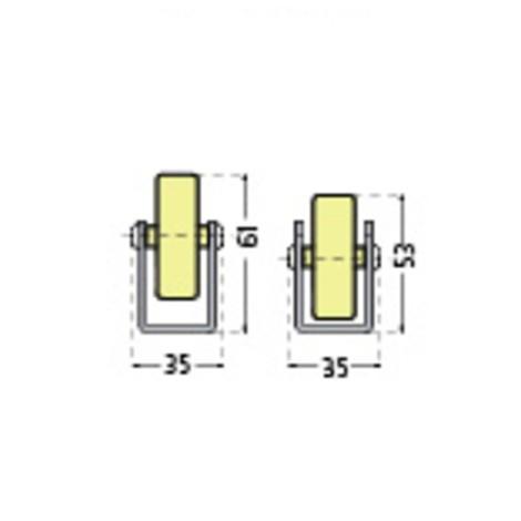 Carril de rodillos universal, capacidad de carga por rollo de 10 kg
