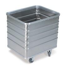 Carrinho com caixa de alumínio com parede completa