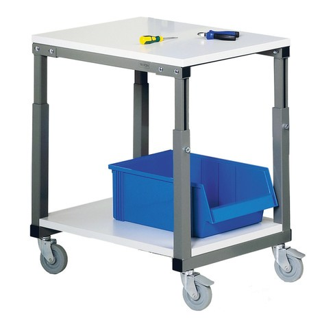 Carro com mesa, 150 kg de capacidade de carga, para sistema de local de trabalho ergonómica