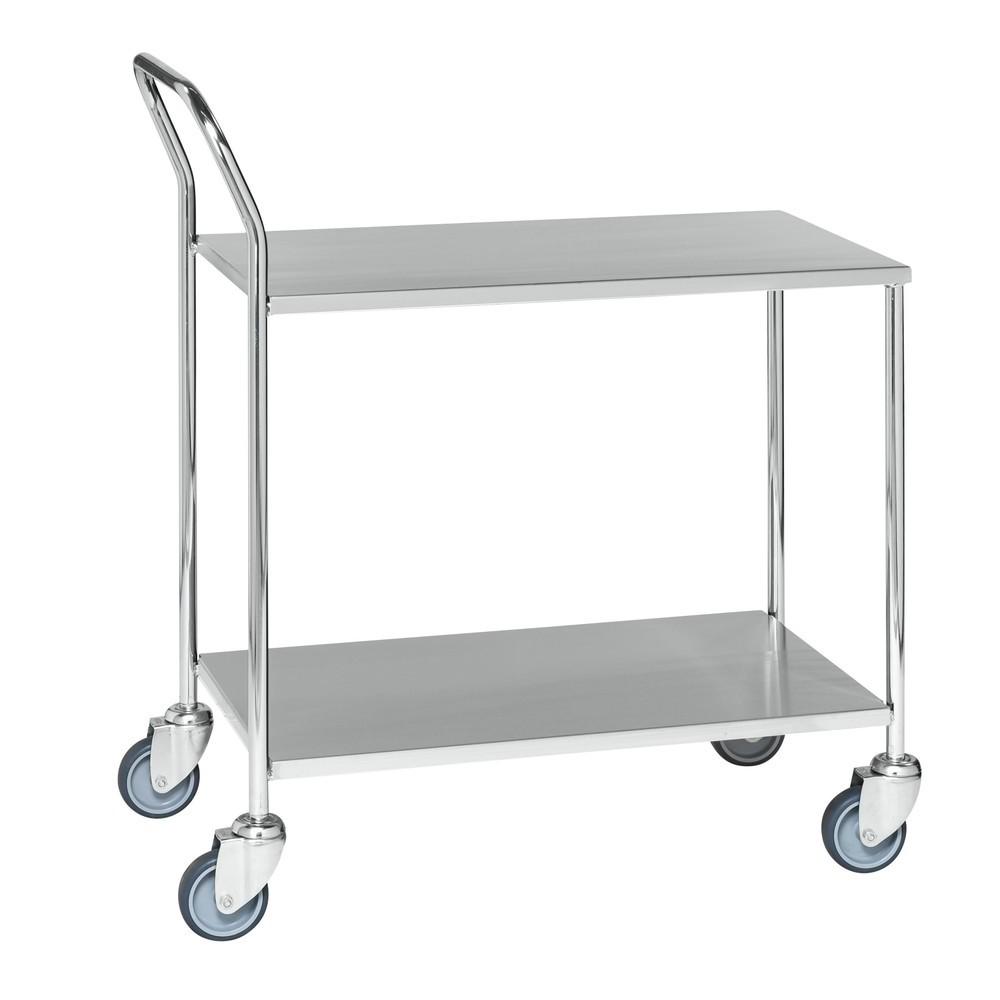 carro de mesa em aço inoxidável