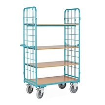 Carro de pisos múltiplos Ameise®, com grade de arame, sem painel posterior