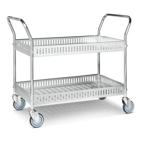 carro|plataforma de cesta, completamente galvanizado
