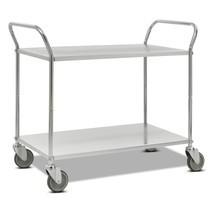 carro|plataforma de mesa, completamente galvanizado, soporte de pie alto