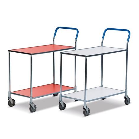carro|plataforma de mesa con suelo laminado