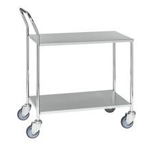 carro|plataforma de mesa de acero inoxidable