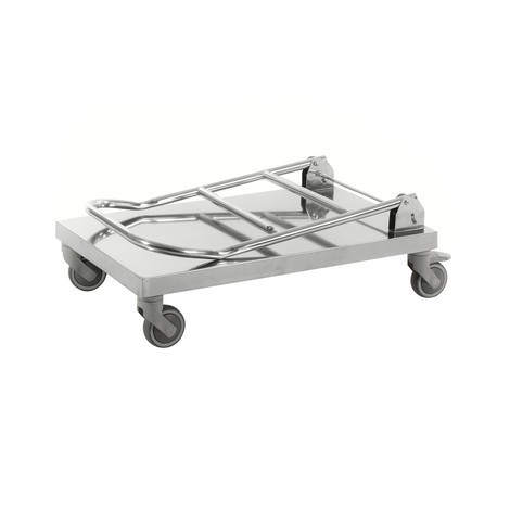 carro|plataforma de transporte, acero inoxidable 18/0