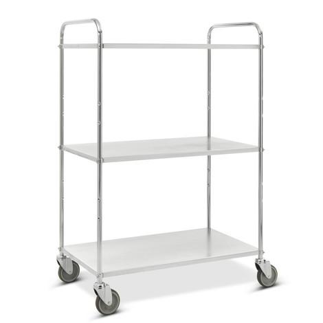carro|plataforma estante inferior, completamente galvanizado, abierto