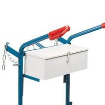 cassa degli attrezzi per carrello portbottiglia in acciaio fetra®, per 2 bottiglie in acciaio