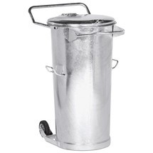 Cestino rifiuti in lamiera d'acciaio zincata a caldo, 110 litri