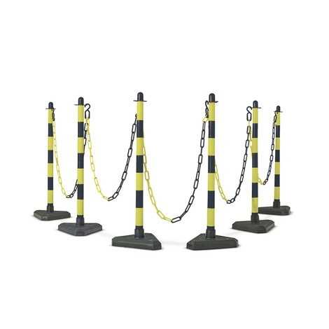 Chain post, plastic base
